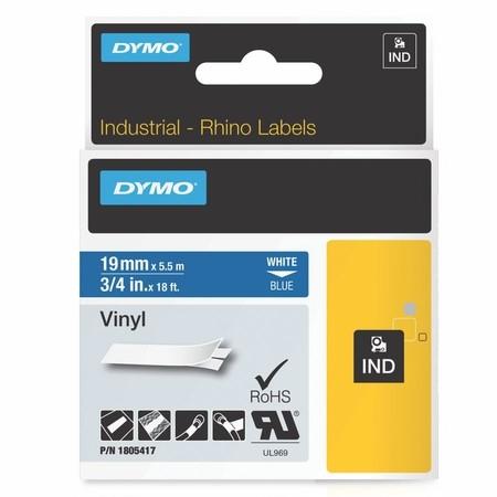 Taśma Dymo 1805417 niebieska/biały druk, 19 mm, winylowa