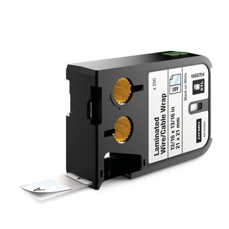 Etykiety Dymo XTL 1868704 białe/czarny druk, 21x21 mm, samolaminujące