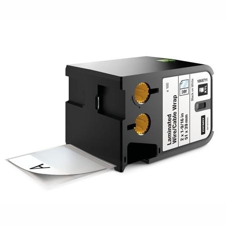 Etykiety Dymo XTL 1868711 białe/czarny druk, 51x39 mm, samolaminujące