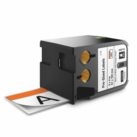 Etykiety Dymo XTL 1868713 z pomarańczowym nagłówkiem, 51x102 mm
