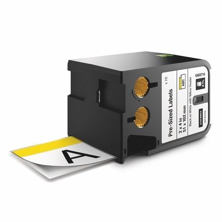 Etykiety Dymo XTL 1868714 z żółtym nagłówkiem, 51x102 mm