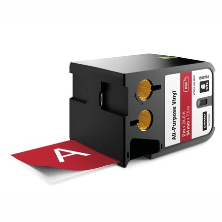 Taśma Dymo XTL 1868765 czerwona/biały druk, 54 mm, winylowa