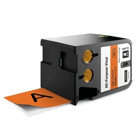 Taśma Dymo XTL 1868770 pomarańczowa/czarny druk, 54 mm, winylowa