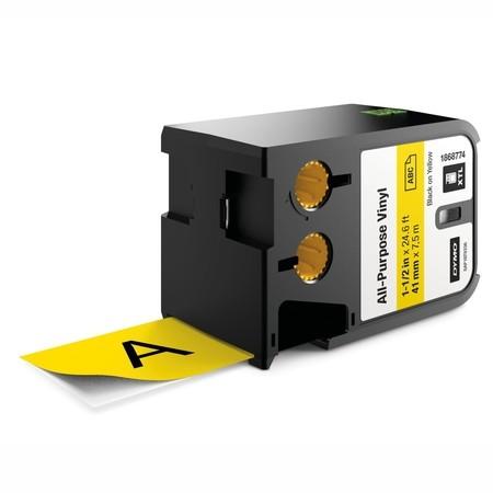 Taśma Dymo XTL 1868774 żółta/czarny druk, 41 mm, winylowa