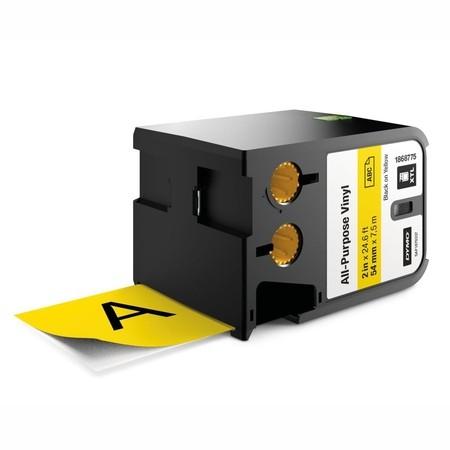 Taśma Dymo XTL 1868775 żółta/czarny druk, 54 mm, winylowa