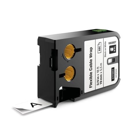 Taśma Dymo XTL 1868807 biała/czarny druk, 19 mm, elastyczna nylonowa