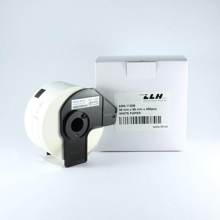 Etykiety papierowe ADK11208, 38x90 mm, 400 szt.
