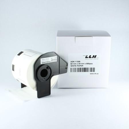 Etykiety papierowe ADK11209, 62x29 mm, 800 szt.
