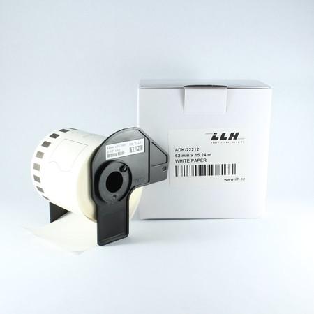 Taśma foliowa ciągła ADK22212 biała, szerokość 62 mm