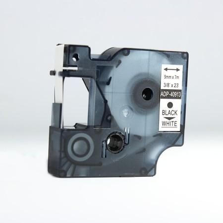 Taśma ADP-40913 biała/czarny druk, 9 mm