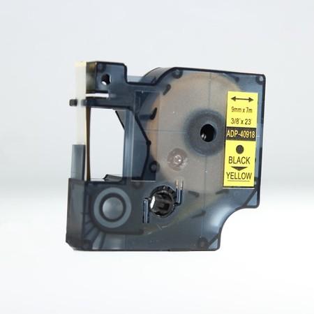 Taśma ADP-40918 żółta/czarny druk, 9 mm