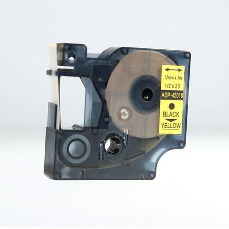 Taśma ADP-45018 żółta/czarny druk, 12 mm