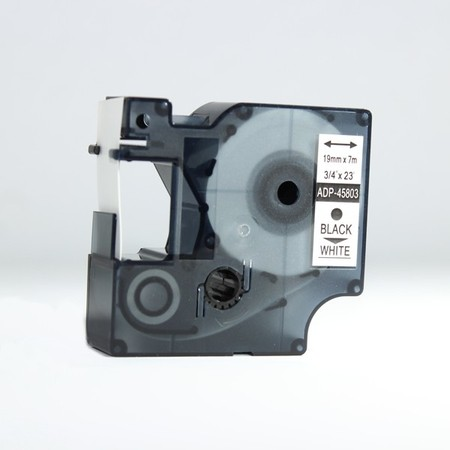 Taśma ADP-45803 biała/czarny druk, 19 mm