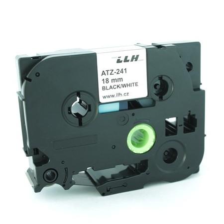 Taśma ATZ-241 biała/czarny druk, 18 mm