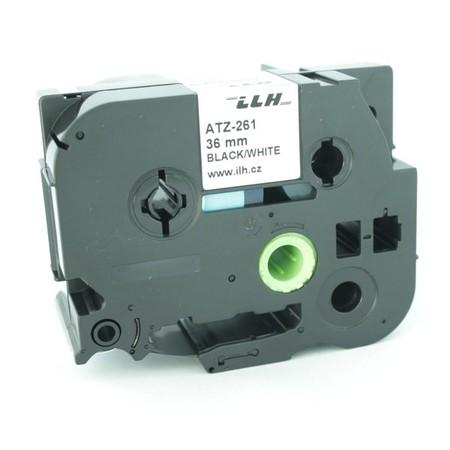 Taśma ATZ-261 biała/czarny druk, 36 mm