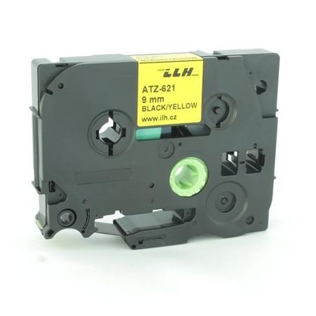 Taśma ATZ-621 żółta/czarny druk, 9 mm