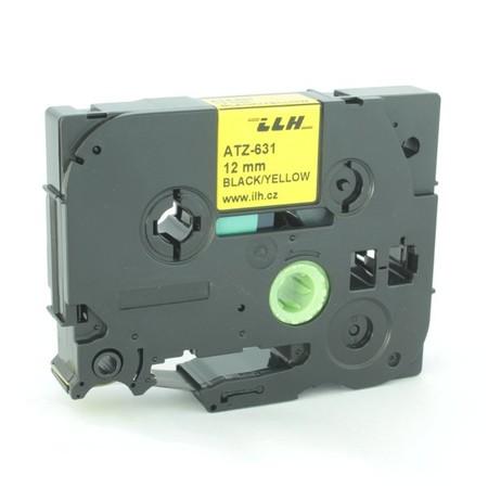 Taśma ATZ-631 żółta/czarny druk, 12 mm