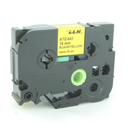 Taśma ATZ-641 żółta/czarny druk, 18 mm