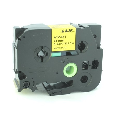 Taśma ATZ-651 żółta/czarny druk, 24 mm