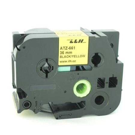 Taśma ATZ-661 żółta/czarny druk, 36 mm