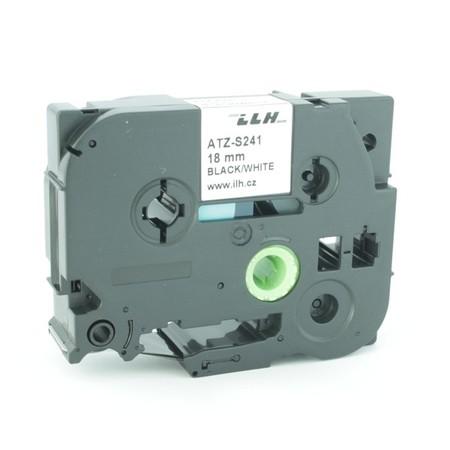 Taśma ATZ-S241 biała/czarny druk, 18 mm, mocny klej