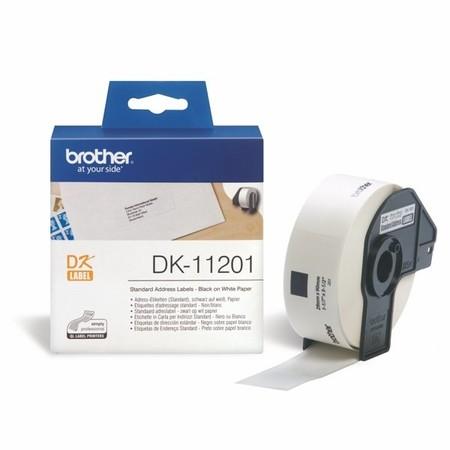 Etykiety papierowe Brother DK11201, 29x90 mm, 400 szt.