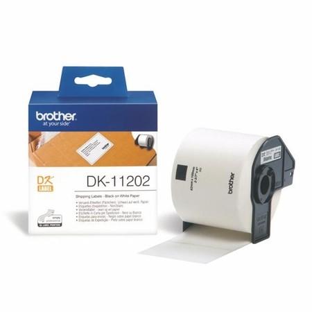 Etykiety papierowe Brother DK11202, 62x100 mm, 300 szt.