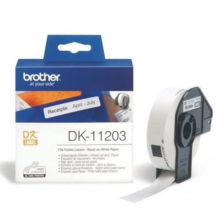 Etykiety papierowe Brother DK11203, 17x87 mm, 300 szt.