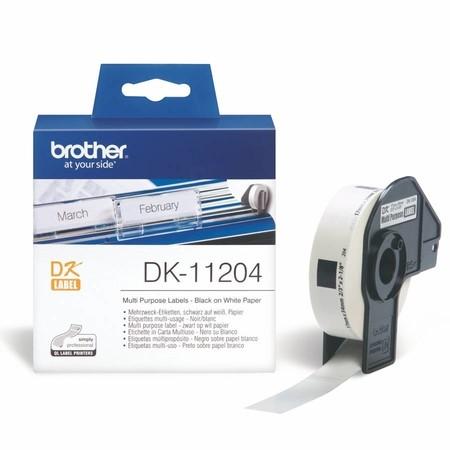 Etykiety papierowe Brother DK11204, 17x54 mm, 400 szt.