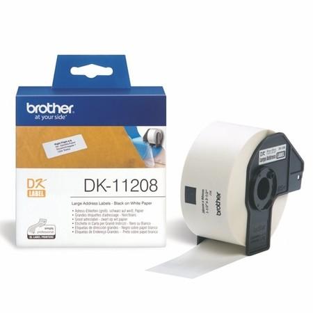 Etykiety papierowe Brother DK11208, 38x90 mm, 400 szt.
