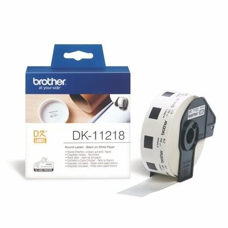Etykiety papierowe Brother DK11218 okrągłe, średnica 24 mm, 1000 szt.