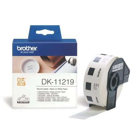 Etykiety papierowe Brother DK11219 okrągłe, średnica 12 mm, 1200 szt.