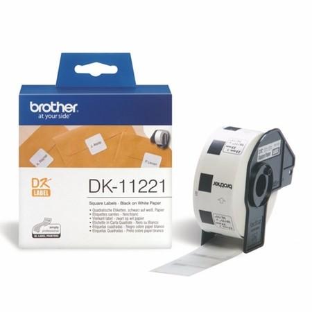 Etykiety papierowe Brother DK11221, 23x23 mm, 1000 szt.