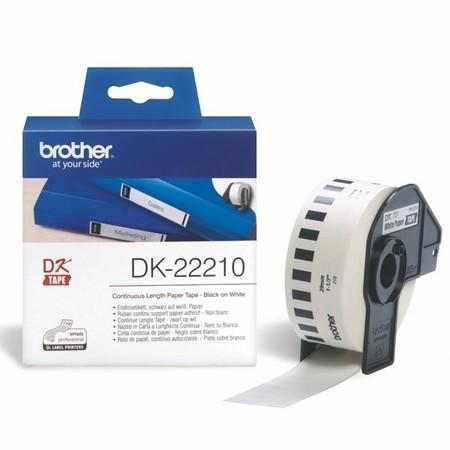 Taśma papierowa ciągła Brother DK22210, szerokość 29 mm