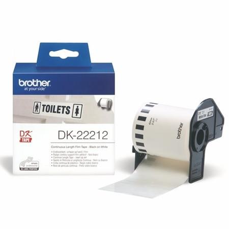 Taśma foliowa ciągła Brother DK22212 biała, szerokość 62 mm