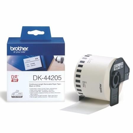 Taśma papierowa ciągła Brother DK44205, szerokość 62 mm, usuwalna