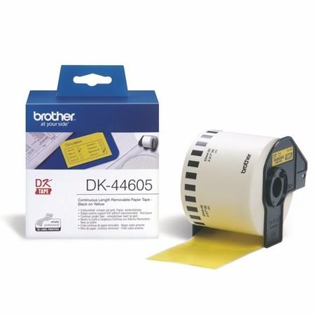 Taśma papierowa ciągła Brother DK44605 żółta, szerokość 62 mm, usuwalna