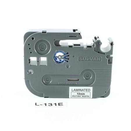 Taśma Supvan L-131E przezroczysta/czarny druk, 12 mm