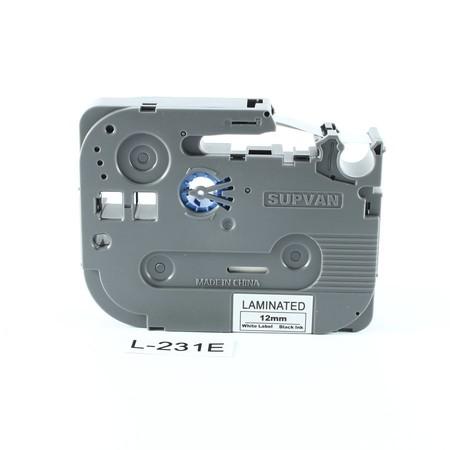 Taśma Supvan L-231E biała/czarny druk, 12 mm