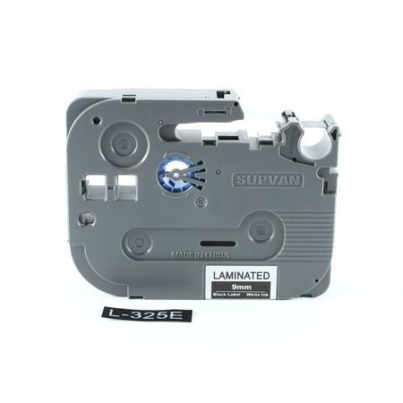 Taśma Supvan L-325E czarna/biały druk, 9 mm