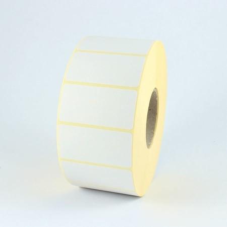 Etykiety papierowe 63x38 mm, z mocnym klejem, 2000 szt.