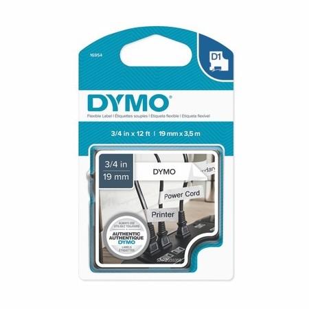 Taśma Dymo S0718050 biała/czarny druk, 19 mm, elastyczna nylonowa