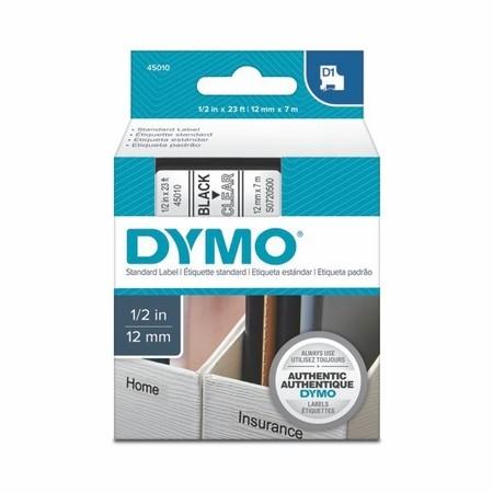 Taśma Dymo S0720500 przezroczysta/czarny druk, 12 mm