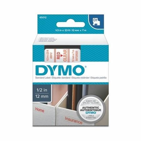 Taśma Dymo S0720520 przezroczysta/czerwony druk, 12 mm