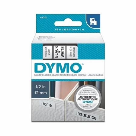Taśma Dymo S0720530 biała/czarny druk, 12 mm