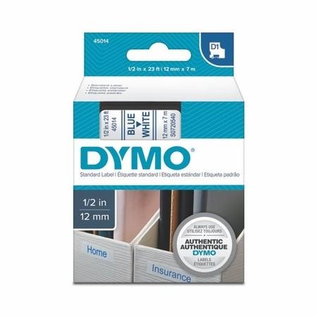 Taśma Dymo S0720540 biała/niebieski druk, 12 mm