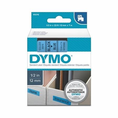 Taśma Dymo S0720560 niebieska/czarny druk, 12 mm