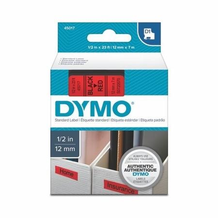 Taśma Dymo S0720570 czerwona/czarny druk, 12 mm