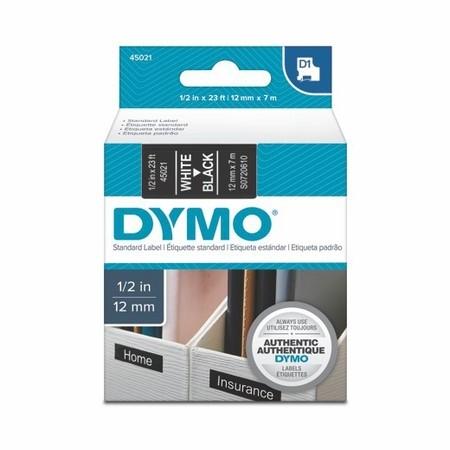 Taśma Dymo S0720610 czarna/biały druk, 12 mm