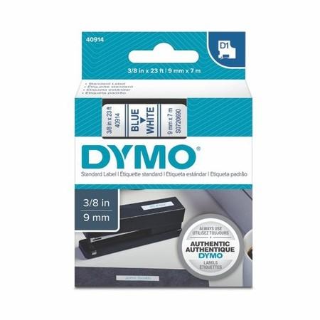 Taśma Dymo S0720690 biała/niebieski druk, 9 mm